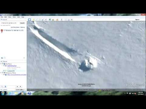 Crashed UFO near McMurdo Station Antarctica 77°50�43.4�S 166°40�11.2�E