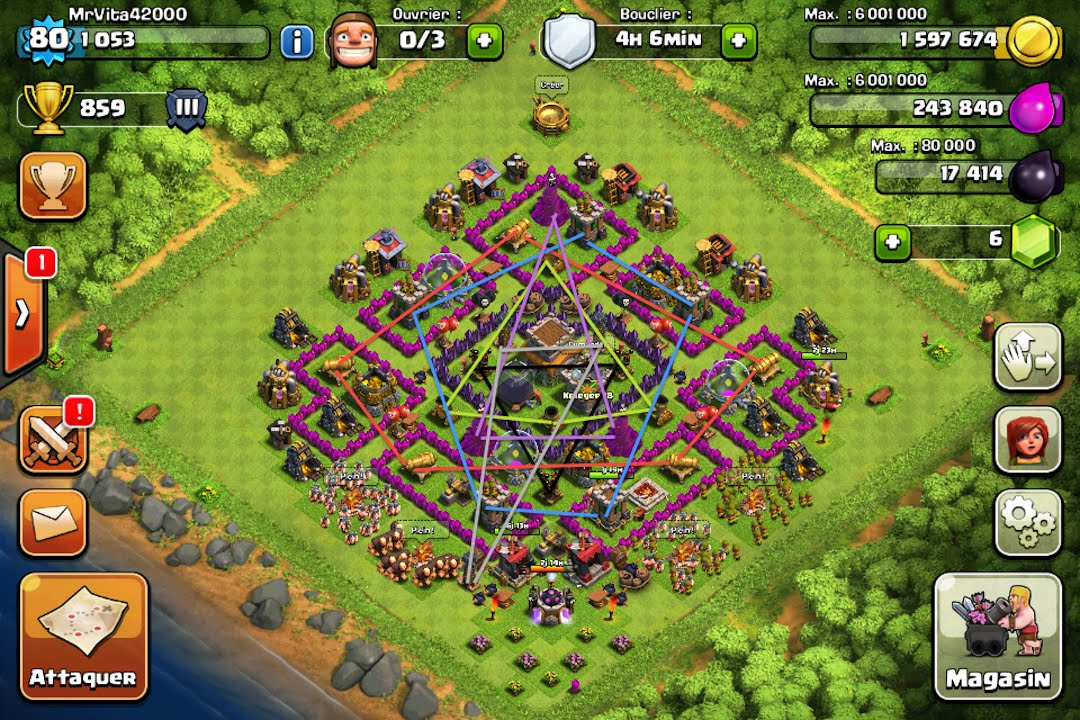 clash of clans village parfait hdv8