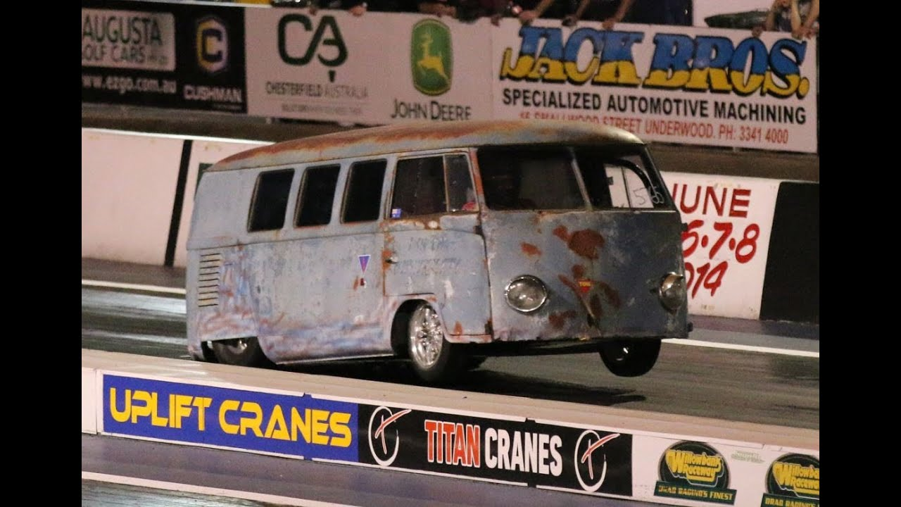 Porche Powered Vw Combi Drag Run Compilation At Willowbank