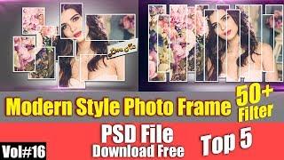 Modern Photo Frame Templates For Photoshop Download Free Vol#16 [desimesikho] 2018
