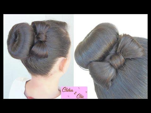 Hairstyle: Donut Bun Bow!! | Chikas Chic
