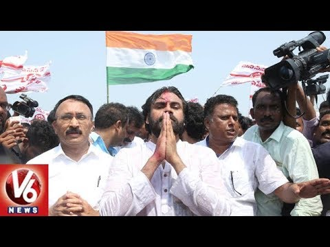 Pawan Kalyan Begins Porata Yatra From Ichchapuram | Srikakulam | V6 News
