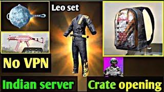 PUBG KR VERSION Best Crate opening NO VPN trick INDIAN SERVER [ LEO SET OUTFIT ] Legendary item