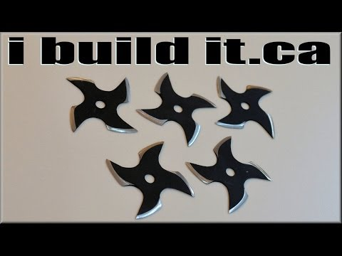 Making Shuriken (Ninja Throwing Stars)