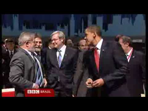 G20: Barack Obama and the President of Brazil  ( Lula )
