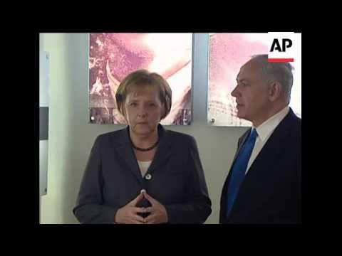 Holocaust memorial attended by Netanyahu and Merkel