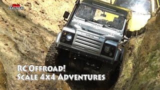 RC Scale Trucks Offroad Adventures RC Toyota Hilux Land Rover Defender Tundra Jeep Wrangler RC4WD
