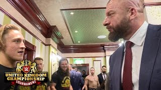 Triple H and William Regal confront Pete Dunne: Exclusive, Jan. 14, 2017