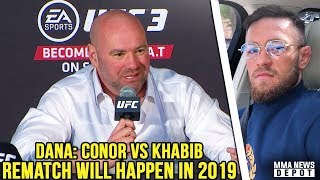 Conor McGregor reacts to Floyd vs Tenshin; DC postpones retirement; Dana: Conor vs Khabib in 2019