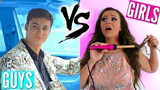 Guys Vs. Girls Back to School PROM! | Krazyrayray