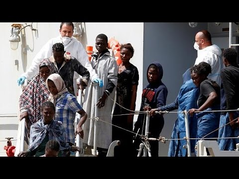 Another batch of rescued migrants arrive in Italy