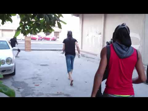 Bahrain Mercenaries Police Fire Shotgun From Armoured Directly on Protesters