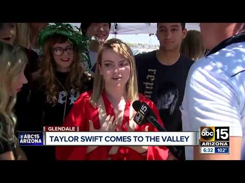 Fans flock to Glendale to see Taylor Swift kick off world tour