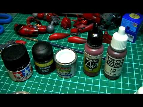 Airbrush painting 4 (tips & tricks) - Make your own Vallejo Model Air paint dropper bottles