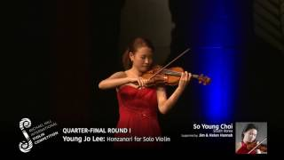 2017 Round #1 Competitor #4 S Y Choi | Young Jo Lee: Honzanori for Solo Violin
