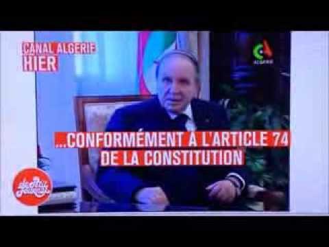 Bouteflika, incapable de pronnoncer une phrase complete