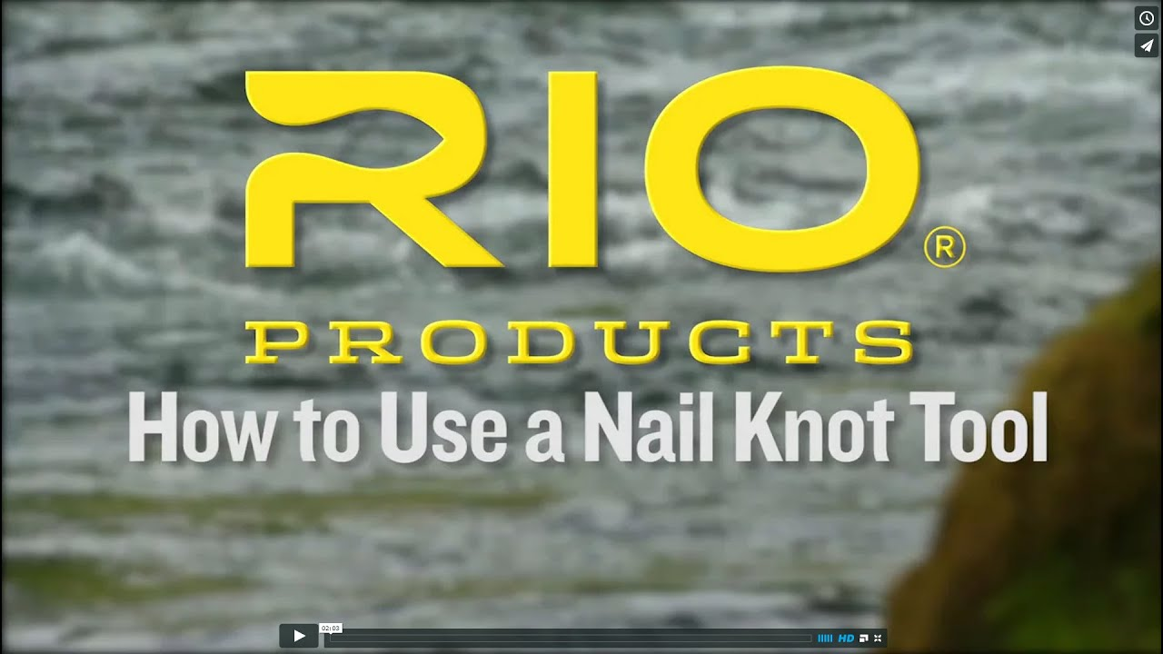 A short film showing how to use a Nail knot tool