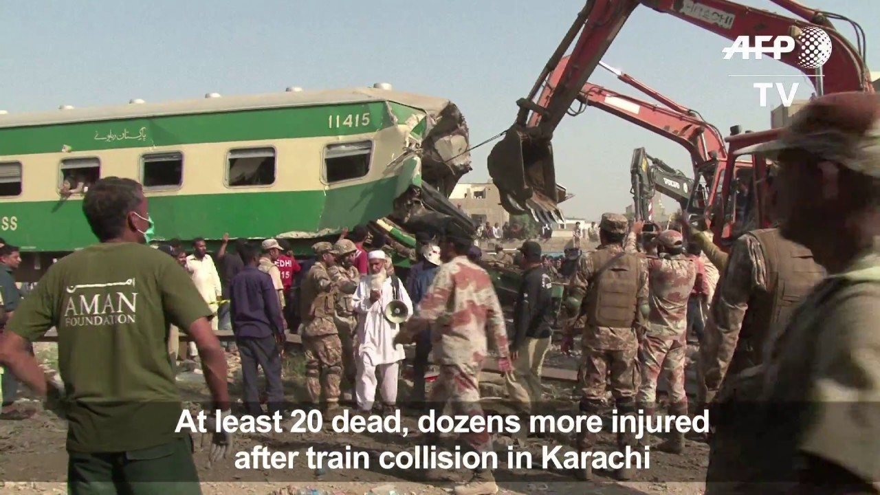 2 packed trains collide in Pakistan, leaving at least 22 dead