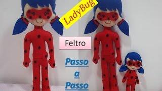 Passo a passo LadyBug de feltro   Sarah Silva  