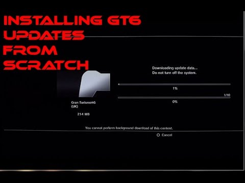 Installing GT6 with 12 Updates. from scratch. when in-game update fails.