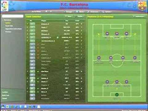 2007 Best Nine >> Football Manager 2007 - 3. In-Game Tactics - YouTube