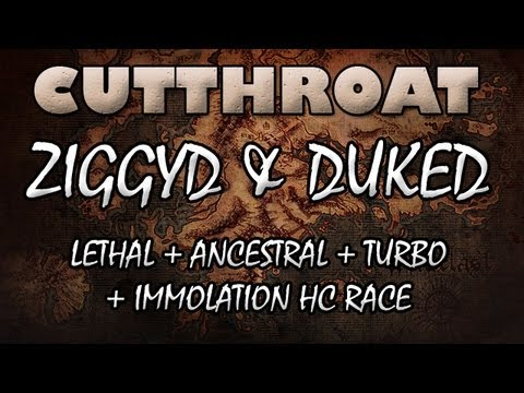 Path of Exile: Cutthroat Lethal Ancestral Immolation Famine HC Turbo Race - Insane Race Event