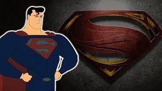 Como sería Man of Steel si fuera un Dibujo Animado