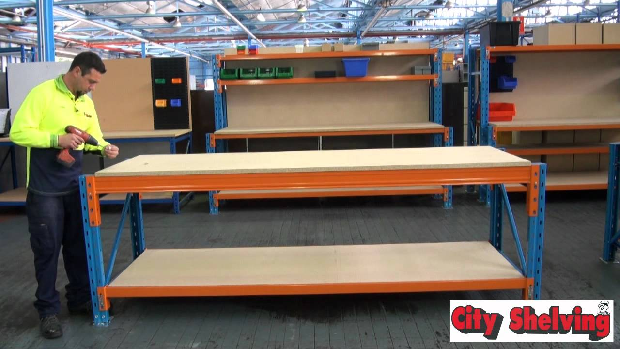 City Shelving Pallet Racking Assembly Youtube