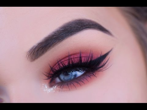 Fall Red/Cranberry Eye Makeup Tutorial - YouTube