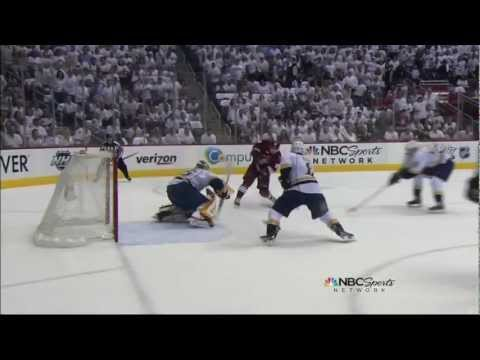 Mikkel Boedker goal. Nashville Predators vs Phoenix Coyotes Game 1 4/27/12 NHL Hockey