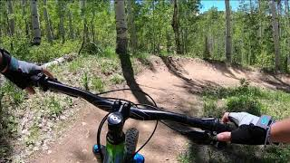 Mountain Biking Holy Roller at Deer Valley Resort - Park City, Utah