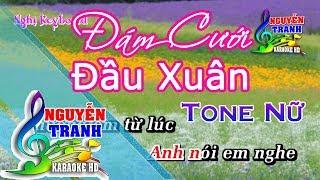 [Karaoke nhạc sống] Đám Cưới Đầu Xuân - Tone Nữ