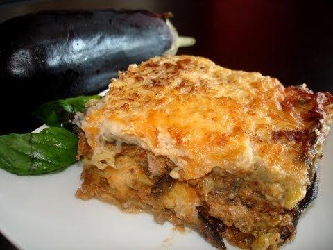 Musaka griega de berenjenas (sin lactosa) ¡impresionante! / Amazing Greek Moussaka (lactose-free)