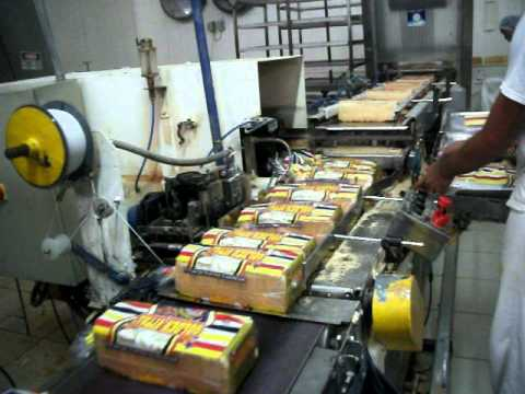 embalamento de pão de forma
