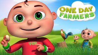 Zool Babies Series - One Day Farmers Episode | Catching The Thief | Videogyan Kids Shows