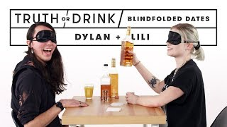Truth or Drink Blind(folded) Date (Dylan & Lili) | Truth or Drink | Cut