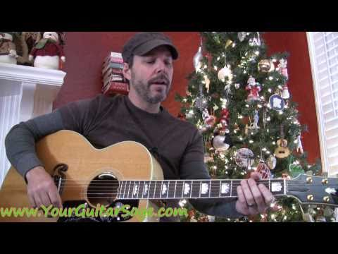 Rudolph the Red-Nosed Reindeer - How to play on acoustic guitar Christmas song beginner lesson
