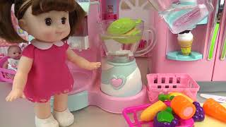 Fruit Ice cream shaker and Baby doll refrigerator toys play   YouTube 360p