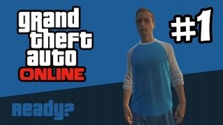 Grand Theft Auto Online Part 1 Gameplay Walkthrough - Character Creation & First Race (GTA 5 Online)
