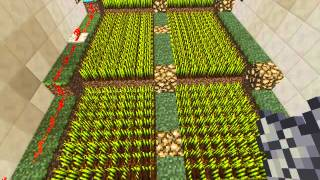 Minecraft 1.8.1 How To Build A Automatic Wheat Farm