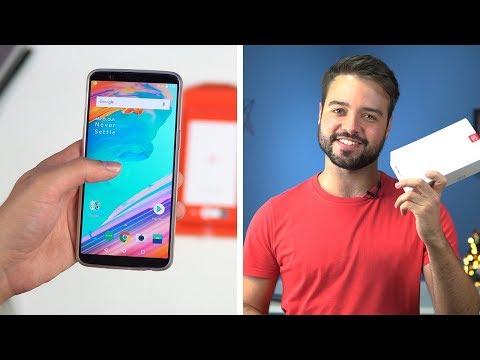 celular mais rápido que já usei! | ONE PLUS 5T - Unboxing