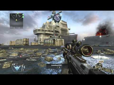 Call of Duty Black Ops 2 No Scope Across the Map, 12-0 Sniping!