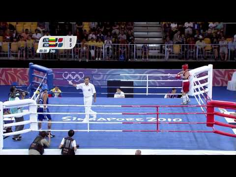 Men's 64Kg Light Welterweight Boxing - Gold Medal Contest - Singapore 2010 Youth Games