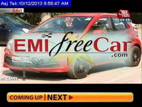EMI Free Car at AajTak News channel   Advertising firm offers to pay EMIs to use cars as billboards.