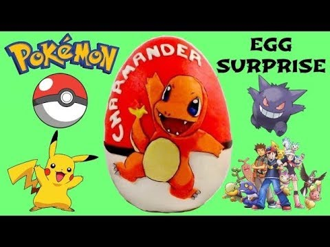 POKEMON CHARMANDER Surprise Egg Play Doh with Pikachu, Slime and Charizard // TUYC