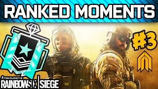 RAINBOW SIX SIEGE RANKED MOMENTS #3 - Defending the Worst Bomb Rooms, Diamond Squad