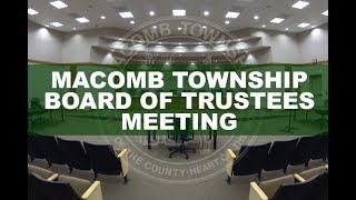 Board of Trustees Meeting May 22, 2019