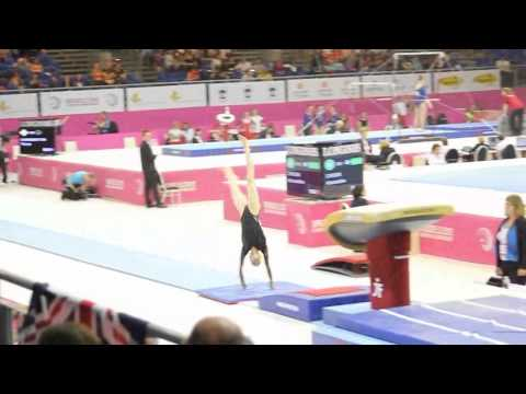 Rebecca TUNNEY GBR, Vault Senior Qualification, European Gymnastics Championships 2012