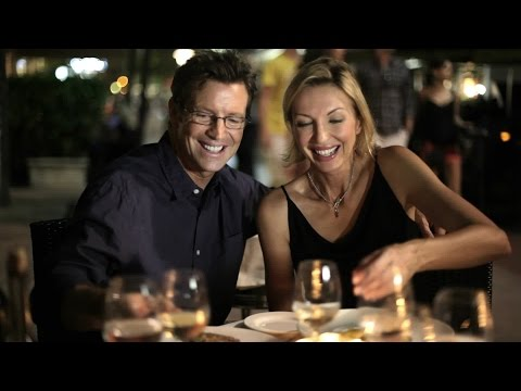 Caucasian Couple In Restaurant. Stock Footage