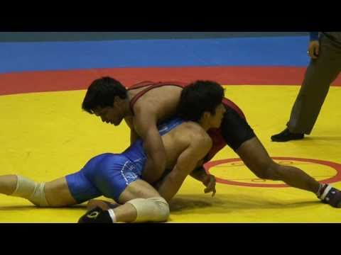 Freestyle Wrestling - Korea vs. India 74kg (103729)